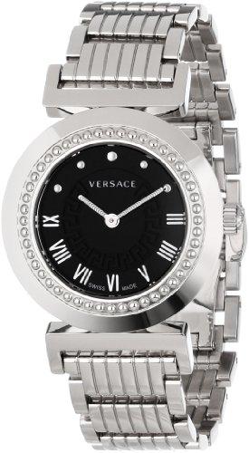 (Versace Women's P5Q99D009 S099 Vanity Stainless Steel Black Sunray Dial Watch)