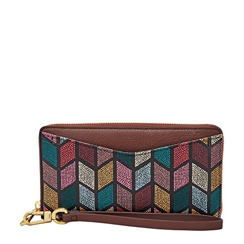 Fossil Caroline Rfid Zip Around Wallet, Fall Multi by Fossil