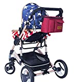 Diaper Bag Mommy Bag Nappy Bag Waterproof Multi-Function for Baby Care for Stroller Organizer (N.red)