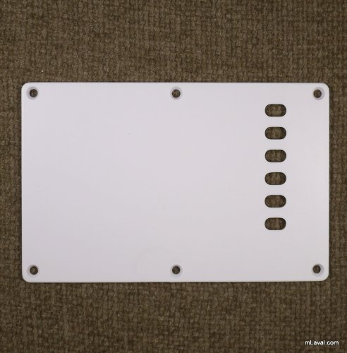 Cavity Cover Back Plate Fits Fender Stratocaster-WHITE (A46)