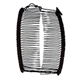 Banana Clip by HairZing - Double Comb for Thick, Curly, Kinky Hair - Put Your Hair Up in Seconds with No Damage, Creases, or Pain - Comfy UpDo, Ponytail, French Twist, Bun (Brown Large)