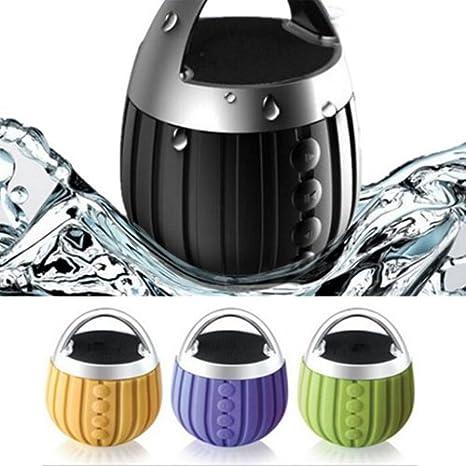 S2S Waterproof Bluetooth Speaker Subwoofer Mini Boombox (Green, Orange, Purple) <span at amazon