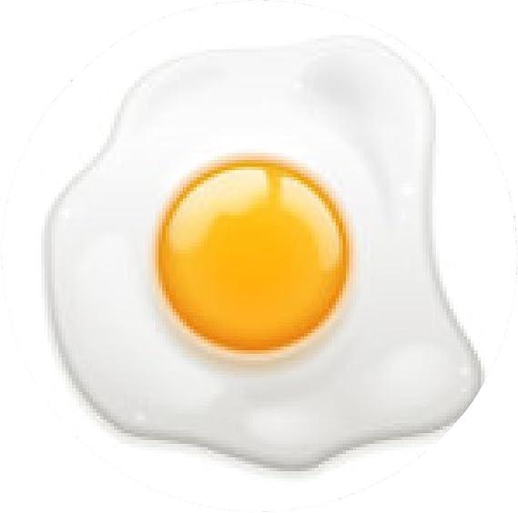 alfombrilla de ratón Huevo frito - ronda - 20cm: Amazon.es ...