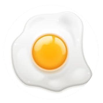 alfombrilla de ratón Huevo frito - ronda - 20cm
