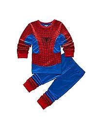GERGER BO Spiderman Pajamas,Boys Pajamas Kids Cotton Cartoon Sleepwears