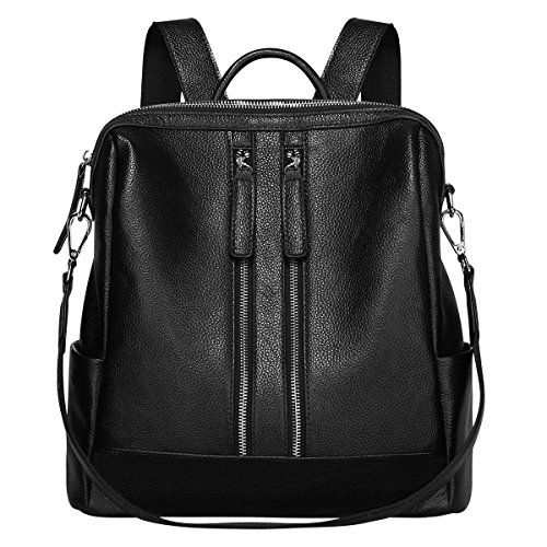 S ZONE Lightweight Women Genuine Leather Backpack Casual Shoulder