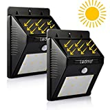 Led Solar Light of LEDMO,Sensor Security Light,Wall Light,Leds Wireless Waterproof Motion Sensor Outdoor Lighting For Garden,Driveway, Warm White (2 Pack)