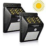 Led Solar Light of LEDMO,Sensor Security Light,Wall Light,Leds Wireless Waterproof Motion Sensor Outdoor Lighting For Garden,Driveway, Warm White (2 Pack)