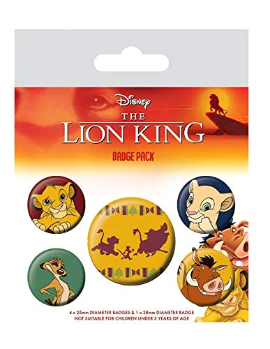 Merchandiseonline The Lion King - 5 Piece Button / Pin / Badge Set (Characters)