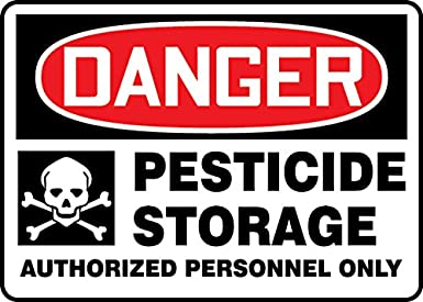 Accuform PESTICIDE STORAGE AUTHORIZED PERSONNEL ONLY (W/GRAPHIC) (MCAW001XT)