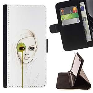 Momo Phone Case / Flip Funda de Cuero Case Cover - Arte pop Mujer;;;;;;;; - Samsung Galaxy Core Prime