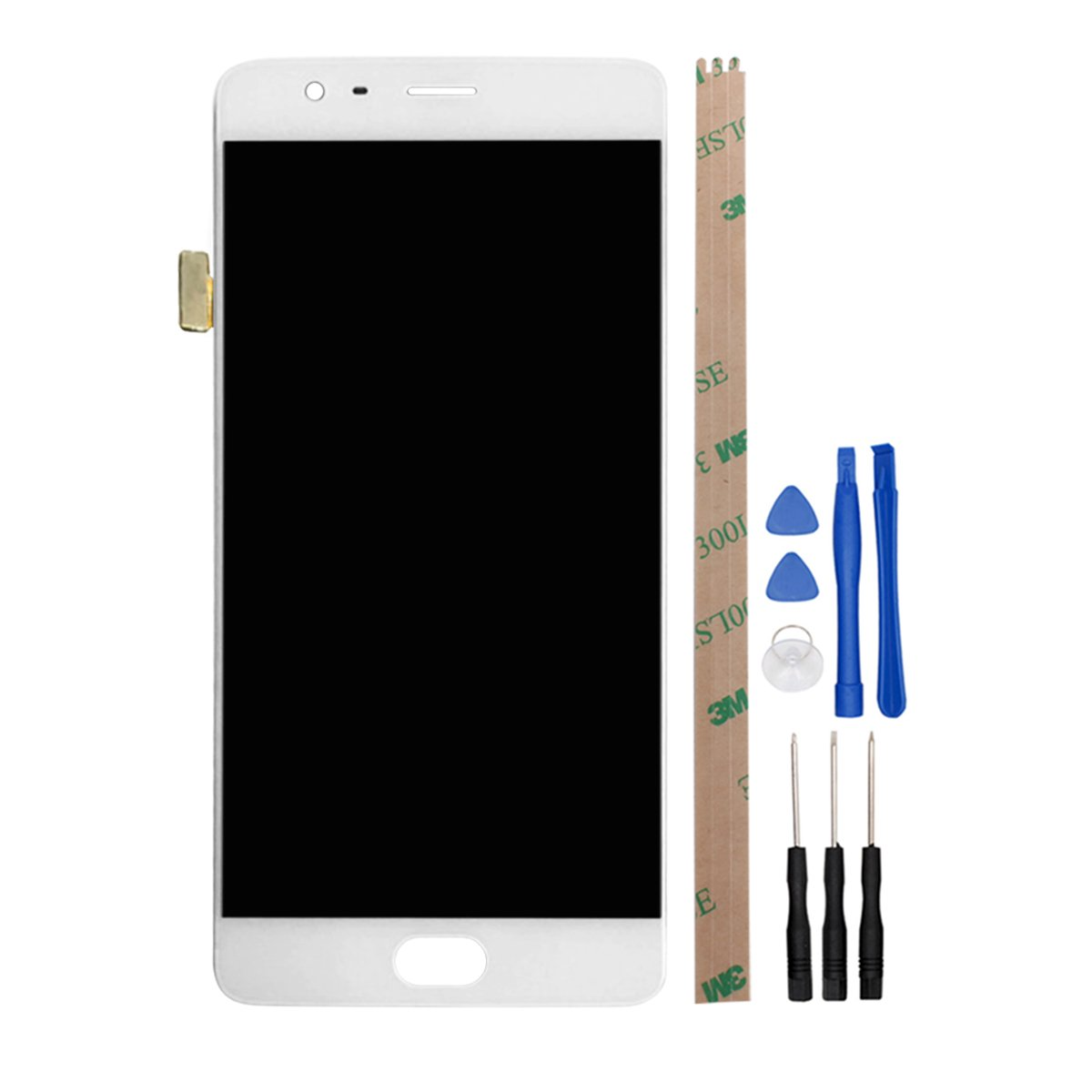 HYYT For One Plus 3 / 3T LCD Digitizer Screen Replacement LCD Display and Touch Screen with Frame (white)