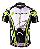 Men's Bike Jerseys Short Slleeves Cycle Jersey Tops Full Zipper Bicycling Shirt Jacket Gear Asia M/US S Green White