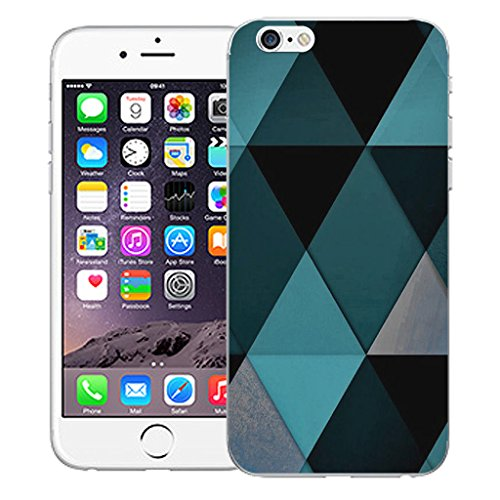 "Mobile Case Mate iPhone 6 Plus 5.5"" Silicone Coque couverture case cover Pare-chocs + STYLET - Blue Diamond pattern (SILICON)"