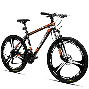 Hiland 26 Inch Mountain Bike Aluminum with 17 Inch Frame Disc-Brake 3/6-Spokes