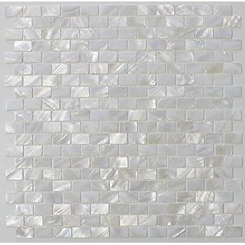 white mother of pearl tile seashell tile kitchen backsplash bathroom wall tile full sheet