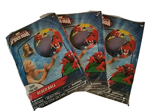 Inflatable Superhero (Marvel Superheroes Ultimate Spiderman Inflatable Beach Balls 3 Pack - Pool Toys For Kids in Summer)