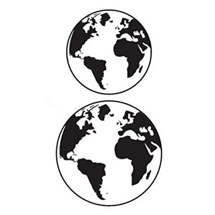 Waterproof Temporary Tattoo Sticker Retro Gray Earth World
