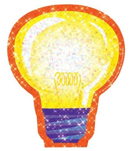 Eureka Sparkle Paper Cut-Outs 36 Light - Sparkle Paper Cut Outs