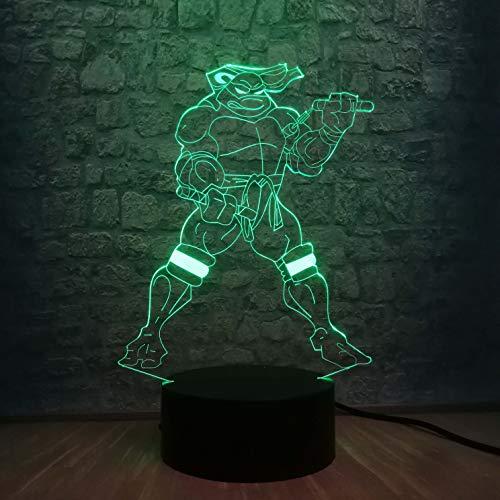 Illusion Light, 3D Lampe Cartoon Multicolor Change Nachtlicht Cool Boy Schlafzimmer Dekor Kid Toys Drei-in-One-Modus…