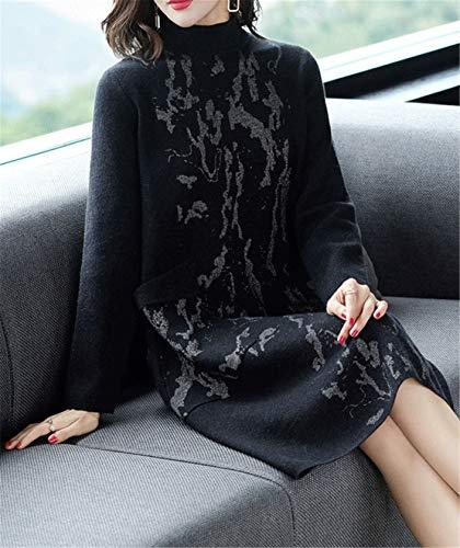 Skitor Simpatiche Maglioni Moda Maglieria Slim Nero Eleganti Maglie Donna Sweater Maglione Casual Vintage Cotone Lunghi Cargo Hwr0qfAH