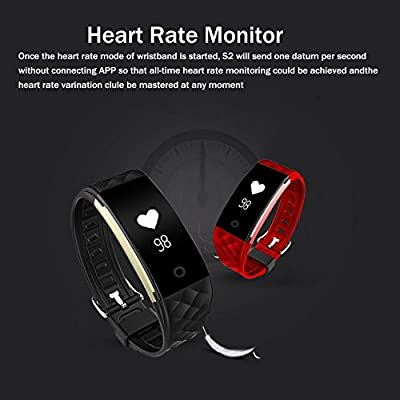 Bitwatch HR Pro Activity and Fitness Tracker - Smart Sports Watch with Heart Rate Monitor Step Pedometer Sleep Monitor Bicycle Exercise Timer