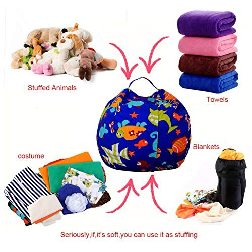 Extpro Extra Large 38 Inch Bean Bag Stuffed Animal Storage and Blankets Storage Bag Organizer for Kids and Adults (C Style) by Extpro (Image #3)