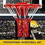 PROGOAL Professional Basketball Net Replacement,Heavy Duty Thick Net Fits Standard Indoor and Outdoor 12-Loop Rims