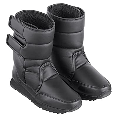 Amazon.com   Fleece-Lined Slip-Resistant Winter Boots with