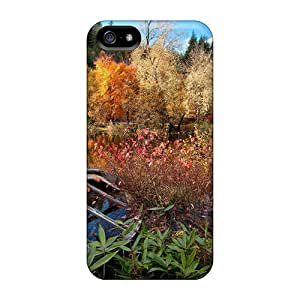 Ultra Slim Fit Hard ChrisHuisman Cases Covers Specially Made For Iphone 5/5s- Autumn Free Abandoned Boat