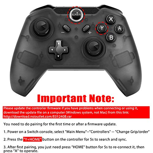 Sunjoyco Wireless Remote Controller Compatible with Nintendo Switch,  Wireless Pro Controller Gaming Gamepad Joypad Compatible with Nintendo  Switch