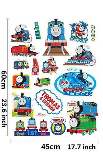 Thomas and Friends GoBuyMall Peel and Stick Wall Decals Stickers for Children /& Kids /& Baby /& Nursery Wall Art Room Decor