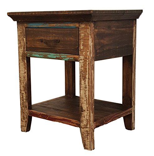 Rustics For Less LC-BUR-01 Cabana Nightstand, Nighstand, Multicolor