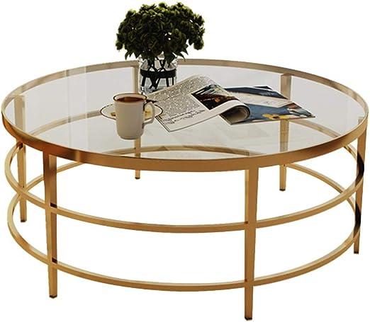 mesas de Centro Mesa de Centro de Vidrio Templado Transparente ...