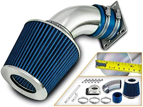 Filter Combo BLUE Compatible For 98-01 Compatible Ford Ranger 98-01 Mazda B3000 3.0L V6 Rtunes Racing Short Ram Air Intake Kit