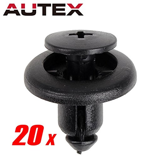 PartsSquare 20pcs Fender Liner Fastener Nylon Bumper Car Retainer Clips Fastener Clamps Auto Body Retainer Kit Replacement for Mazda 626 CX-5 CX-7 CX-9 Miata Millenia MPV MX-5 MX-6 Protege RX-8