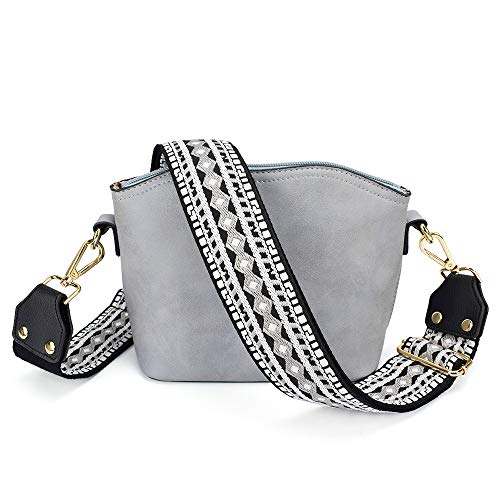 Adjustable Replacement Guitar Strap Styled Handbag Purse Strap Vintage Flower (Black and White)