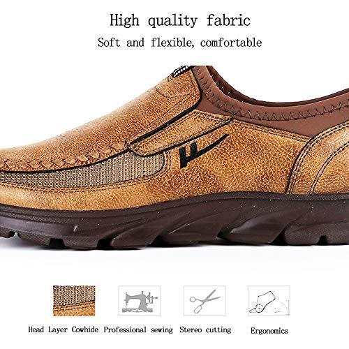 Zapatillas Ocio Hombre Casa Mocasines De Por Gamuza Impermeable Estar Brown Antideslizante rPwqr7x8