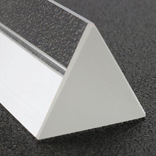 Queenwind 6 インチの光学ガラスは箱の物理学を教える光スペクトルの三重の三角プリズム