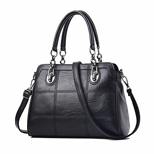 de CCZUIML Mujer Bag Mini de Bolso Gran Rojo Crossbody Cuero Bolso Hombro de negro de Capacidad Suave wqU7rpxw0