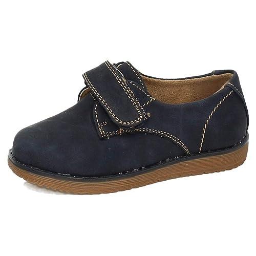 BONINO 3-NS596A-18 Mocasines Velcro NIÑO Zapatos MOCASÍN Azul Marino 22