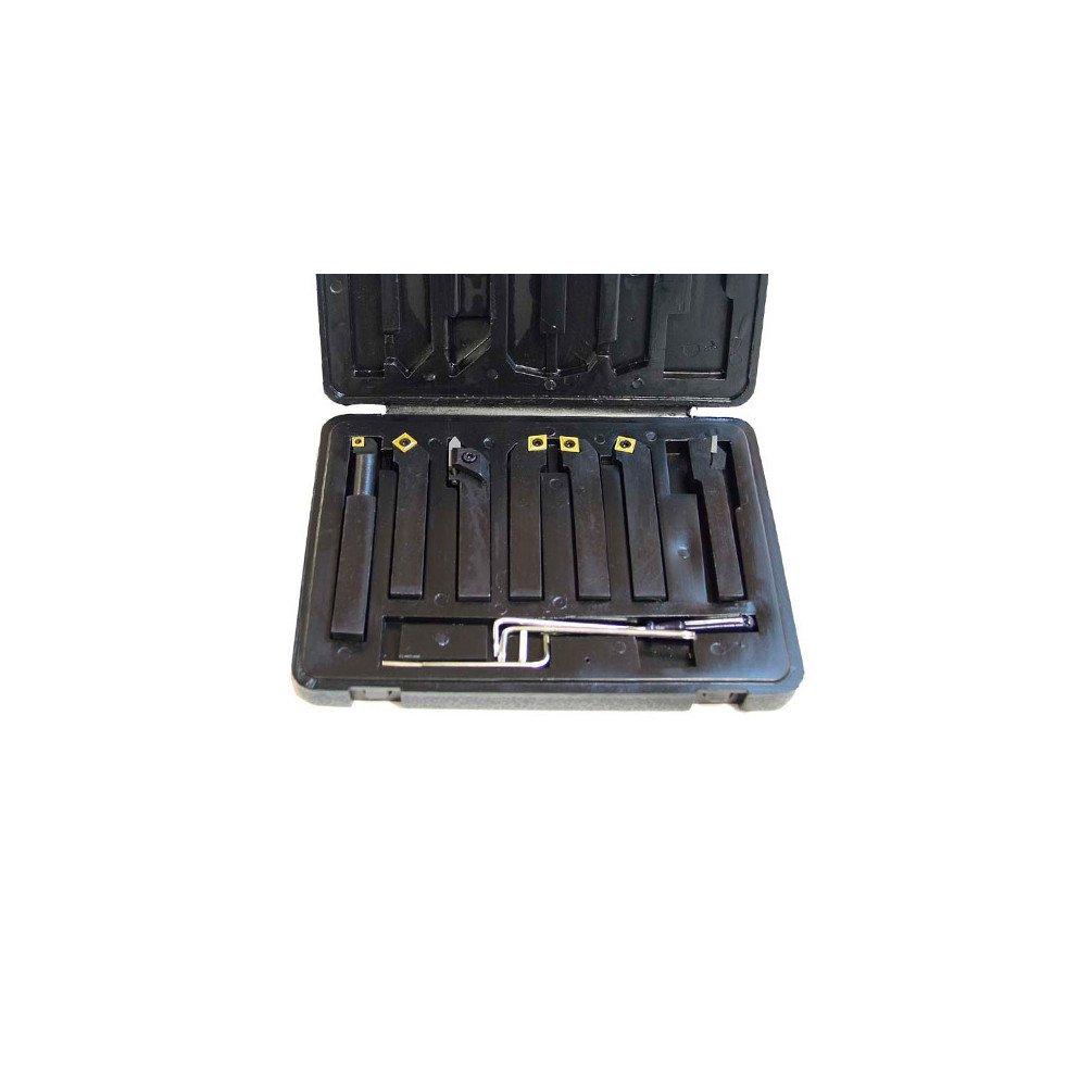 Coffret 7 outils de tournage m/étal 12 x 12 mm /à plaquettes M/étalprofi M/étalprofi HS-DM12
