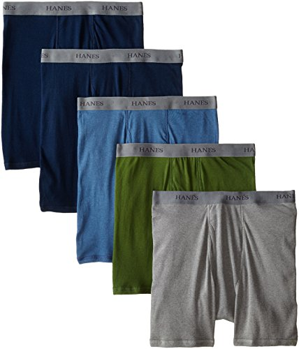 Briefs Classics Hanes Classic (Hanes Ultimate Men's 5-Pack FreshIQ Boxer Briefs, Assorted, Large)