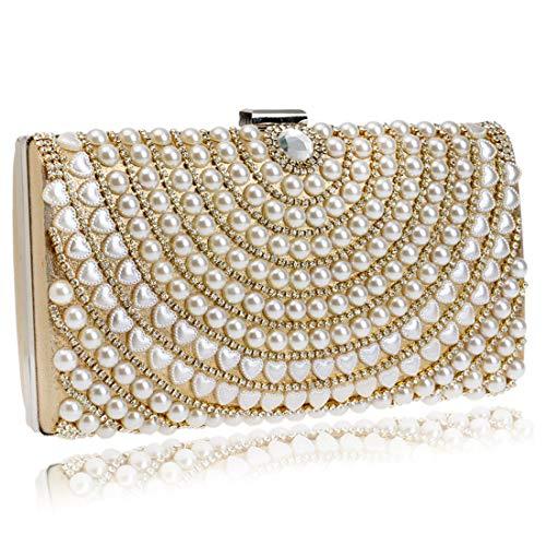 di Luxury Messenger Bag delle signore Banquet sera modo Argento e Oro Dinner nuove Colore Luxury borsa Vola da Borsa Bag americane Pearl della europee frizione qTwaxXfOf