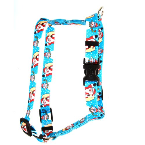 (Yellow Dog Design Santa Snowman Roman Style H Dog Harness, Small/Medium-3/4 Wide fits Chest of 14 to 20