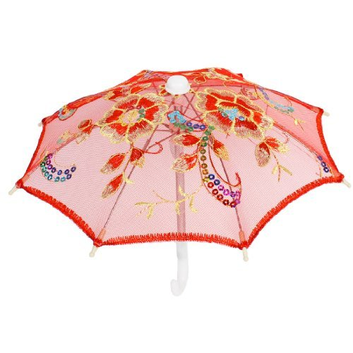 Accents Umbrella (Bata Kasal Makulay peyley Accent Mini Lace Umbrella Red)