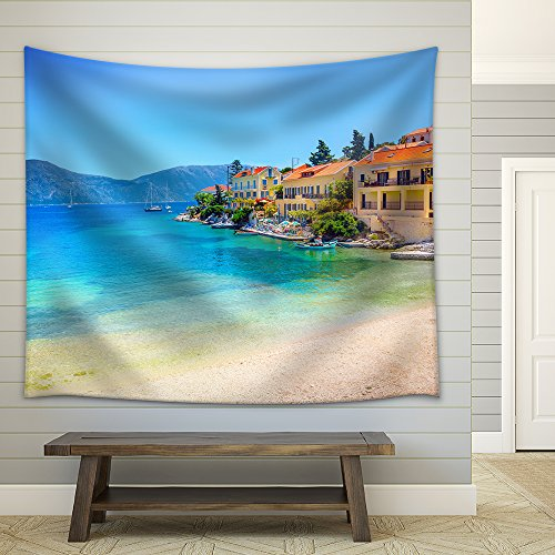 Fiskardo Village Kefalonia Island Greece Fabric Wall Tapestry