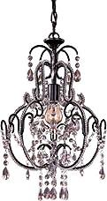 Minka Lavery 3123-489, Mini Crystal Chandelier Lighting, 1 Light, 60 Watts, Bronze