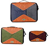 HEXIN 3-Piece Set Travel Organizer for Clothing Shoes
