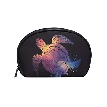 bb5f1d8b9cf9 Tiffa Lit Makeup Bag, Shell Shape Watercolor Space Turtle- Travel ...